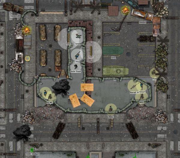 Krakow outer ruins gang fight detail
