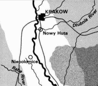 Krakow local map