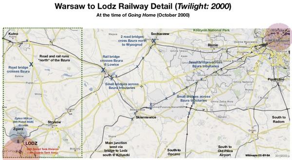 Warsaw to Lodz Railway Detail for Wayne (Oct 2000 version)