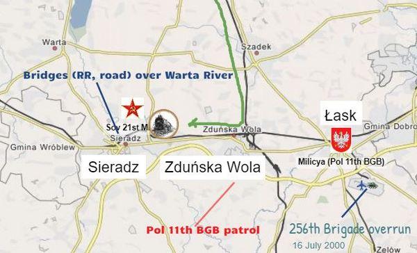 2-3 Nov 2000 Sieradz map