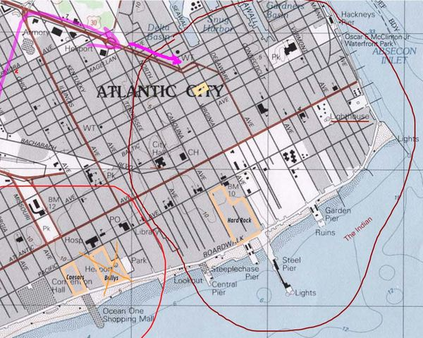 Atlantic City The Indian territory map