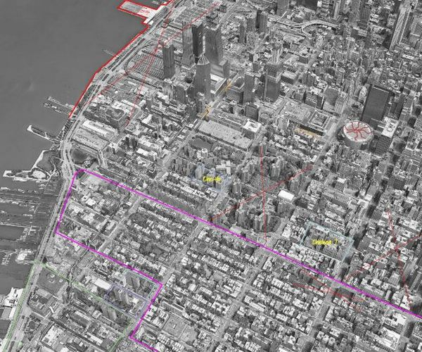 Central Manhattan of 14th st landing annotated